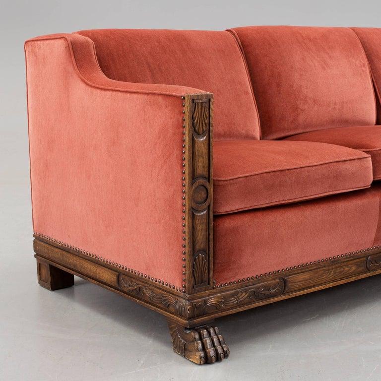 Swedish Art Deco Sofa by Axel Einar Hjorth for Bodafors ...