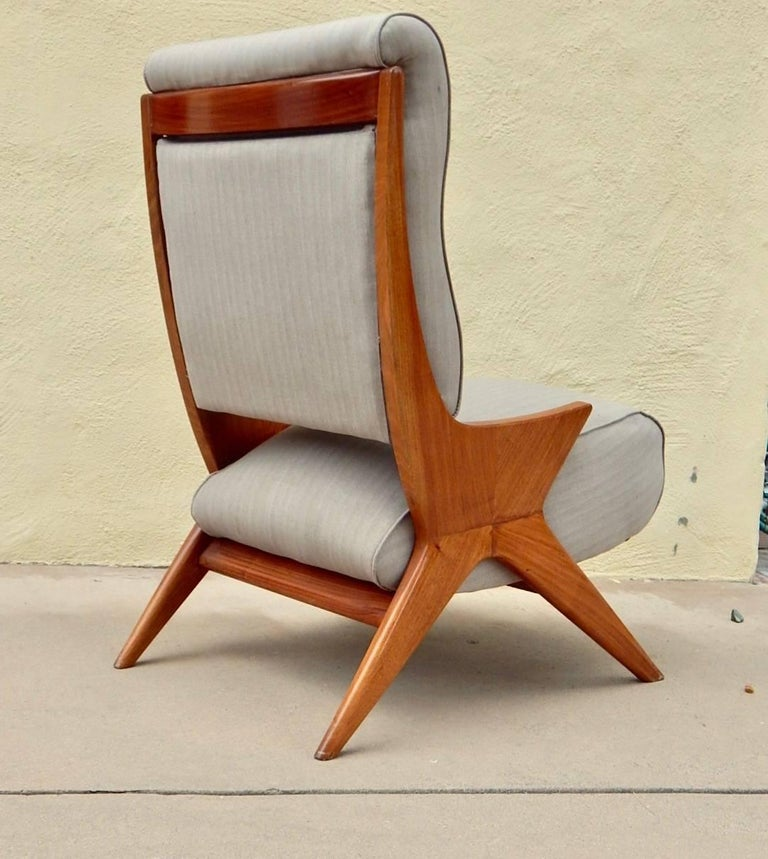 Argentine Americano Funcional Mid-Century Slipper Chair 1950s In Excellent Condition For Sale In Los Angeles, CA
