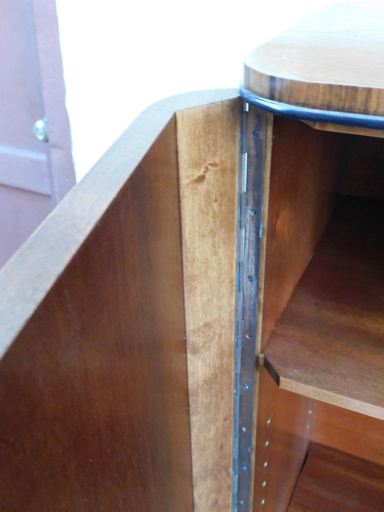 Mid-20th Century Swedish Art Modern Dry Bar or Sideboard in Book Matched Walnut, circa 1940 For Sale