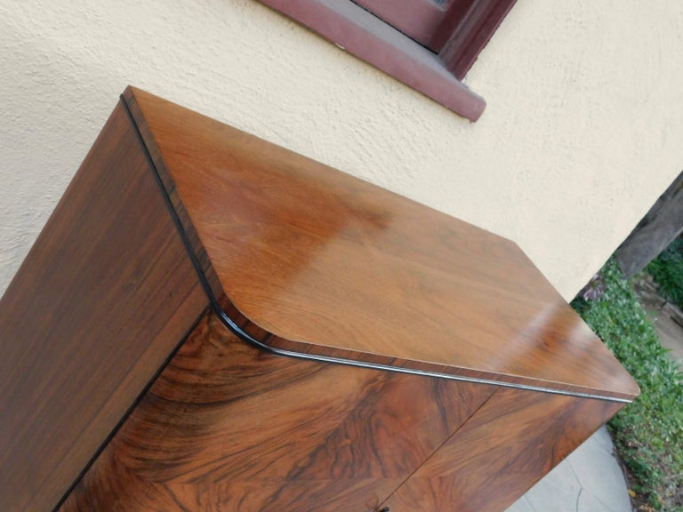 Swedish Art Modern Dry Bar or Sideboard in Book Matched Walnut, circa 1940 For Sale 3