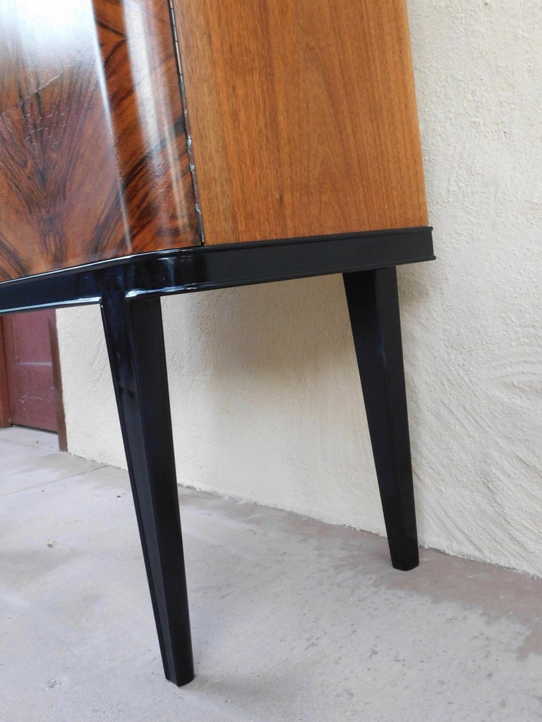 Swedish Art Modern Dry Bar or Sideboard in Book Matched Walnut, circa 1940 For Sale 10