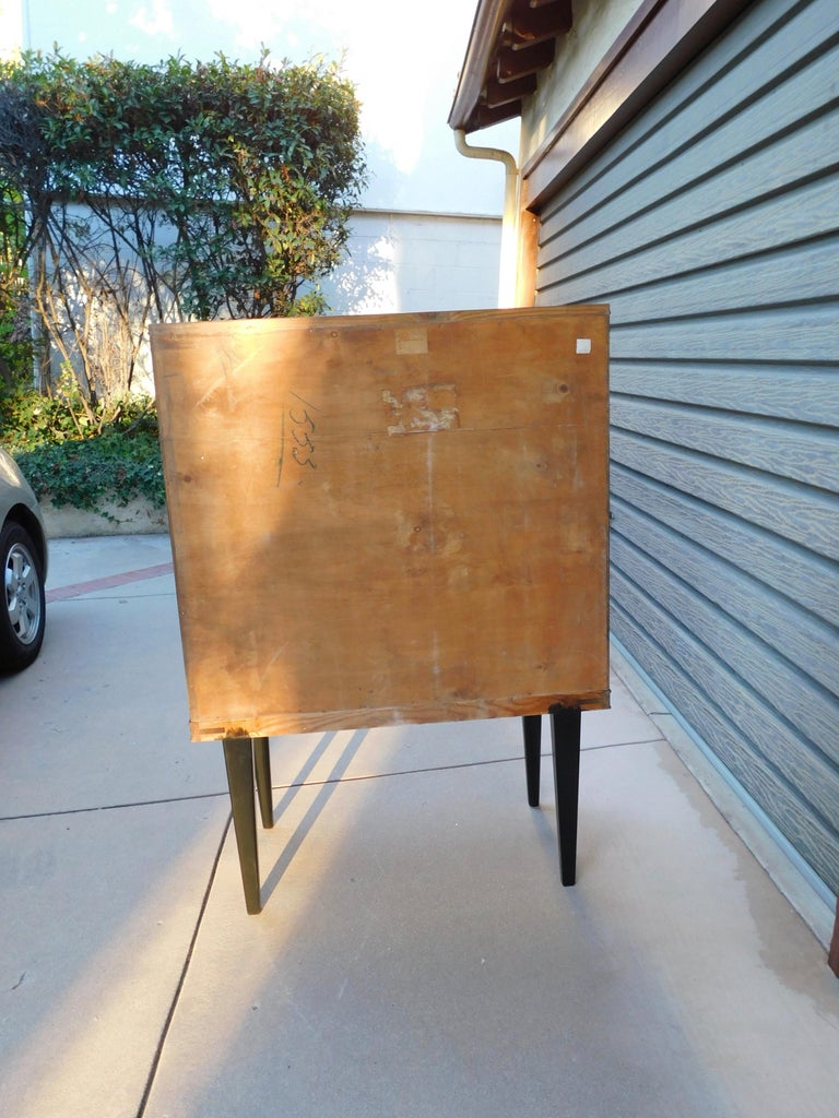Swedish Art Modern Dry Bar or Sideboard in Book Matched Walnut, circa 1940 For Sale 13