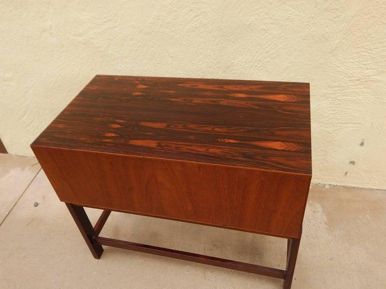 Danish Mid-Century Modern Rosewood Storage Chest, circa 1960 For Sale 5