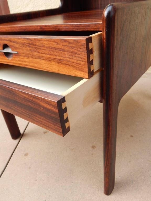 Danish Mid-Century Modern Rosewood Side Table, circa 1960 For Sale 3
