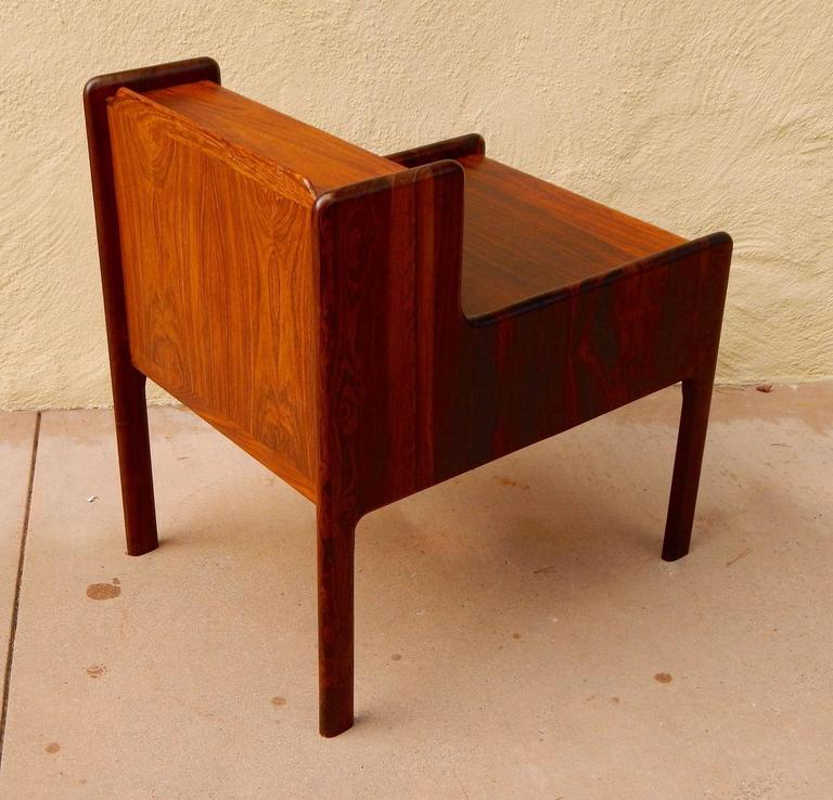 Mid-20th Century Danish Mid-Century Modern Rosewood Side Table, circa 1960 For Sale