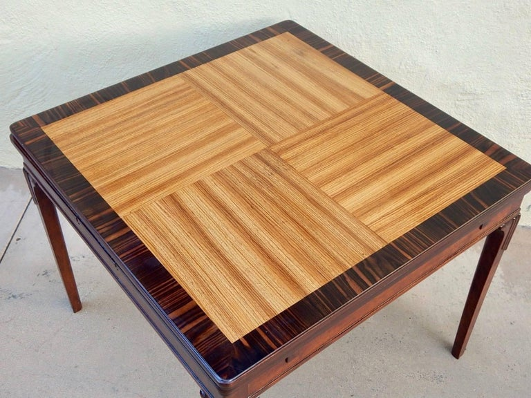 Swedish Art Deco Extendible Side Table by Eric Chambert, circa 1930 In Excellent Condition For Sale In Los Angeles, CA