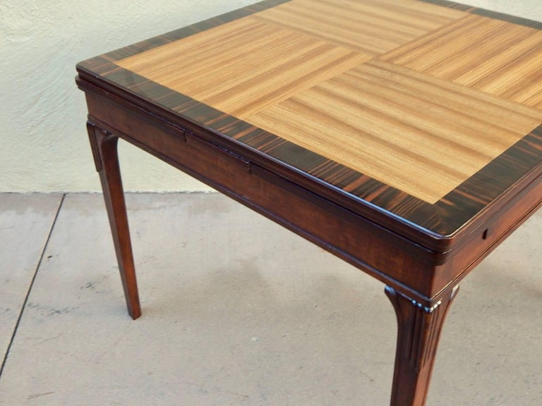 Mid-20th Century Swedish Art Deco Extendible Side Table by Eric Chambert, circa 1930 For Sale
