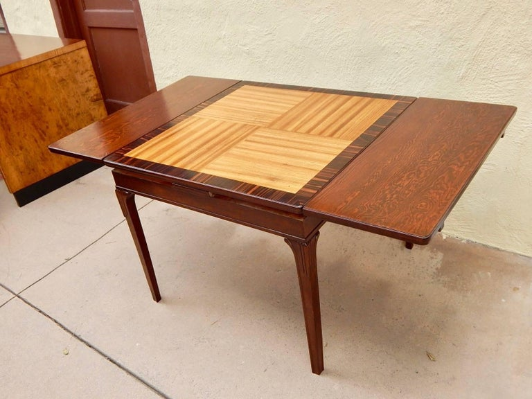 Swedish Art Deco Extendible Side Table by Eric Chambert, circa 1930 For Sale 1