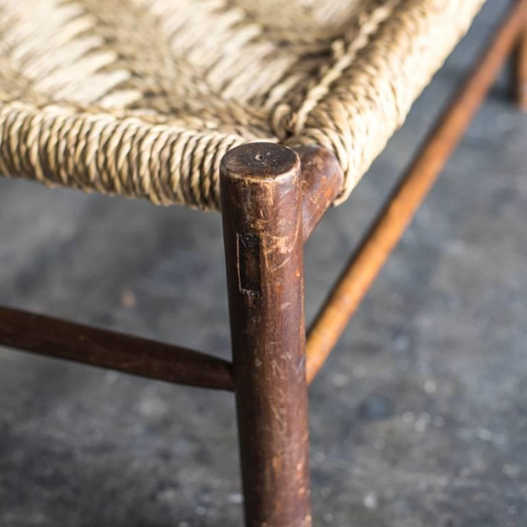 Rope Set of Armchair and Table by Audoux-Minet For Sale