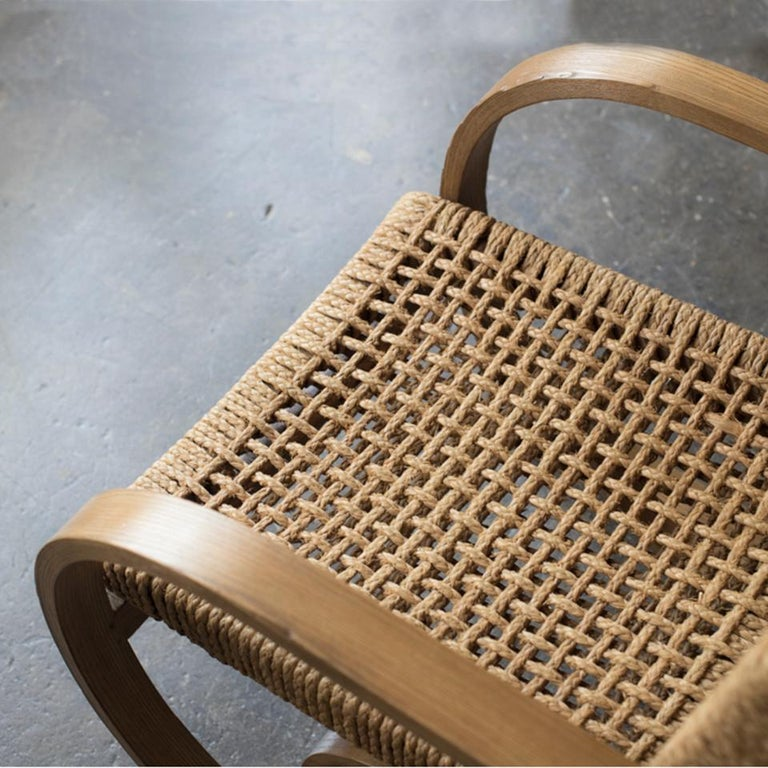 Woodwork Audoux-Minet Rope Armchair for Vibo, 1950s For Sale