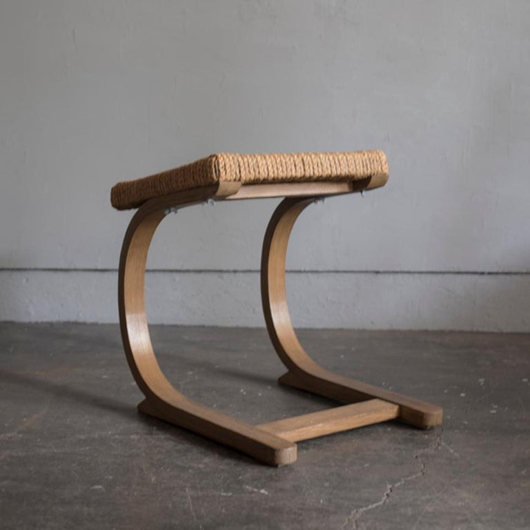 Very rare dressing chair stool by Audoux-Minet in good condition.