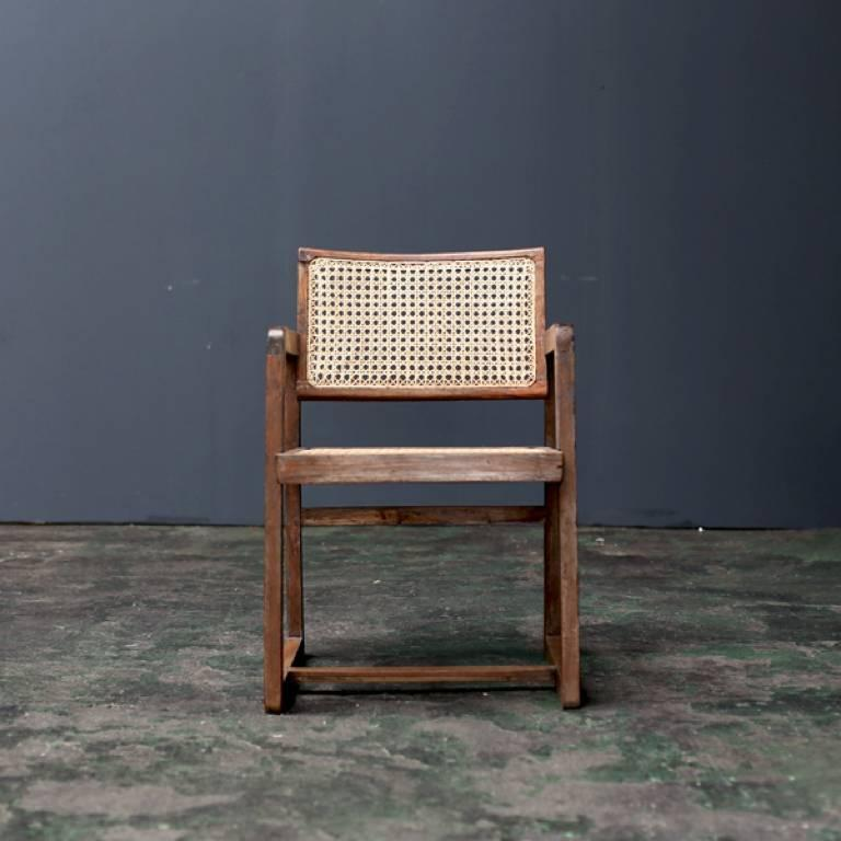 Woodwork Big Box Chair by Pierre Jeanneret For Sale