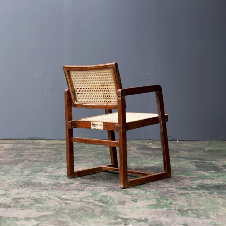 Indian Big Box Chair by Pierre Jeanneret For Sale