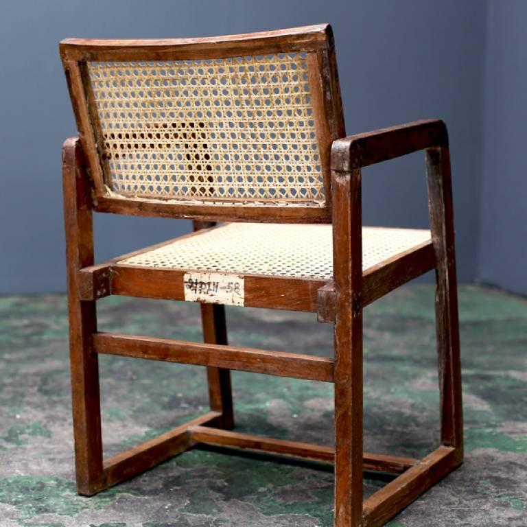 Mid-Century Modern Big Box Chair by Pierre Jeanneret For Sale