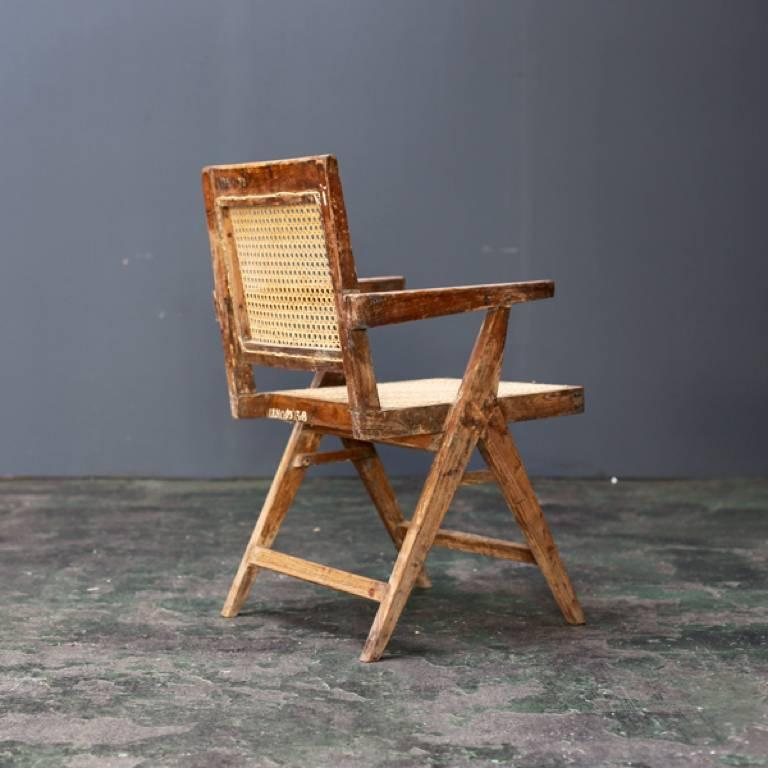 Indian Y Frame Chair by Pierre Jeanneret For Sale