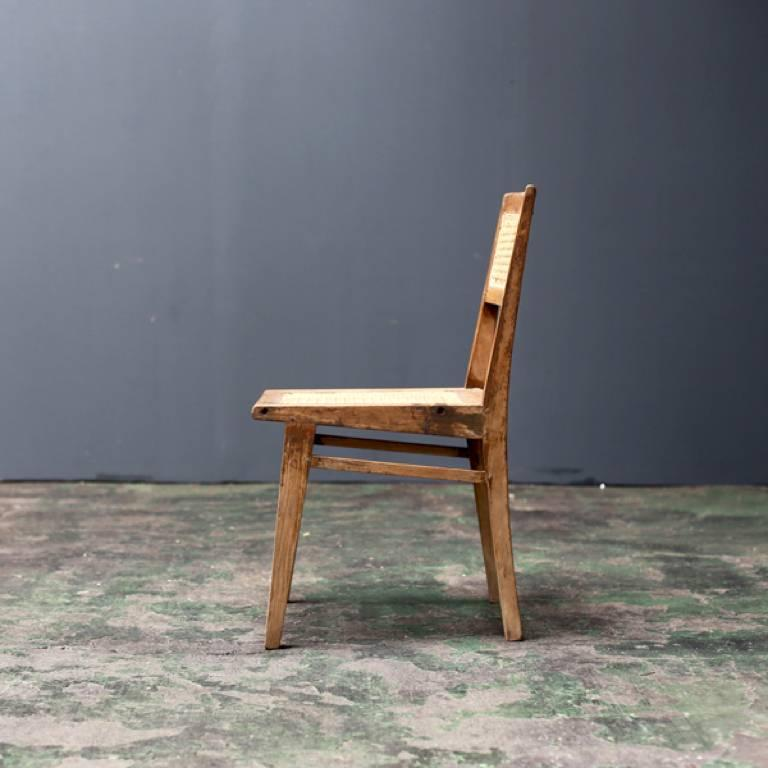Indian Simple Chair by Pierre Jeanneret For Sale