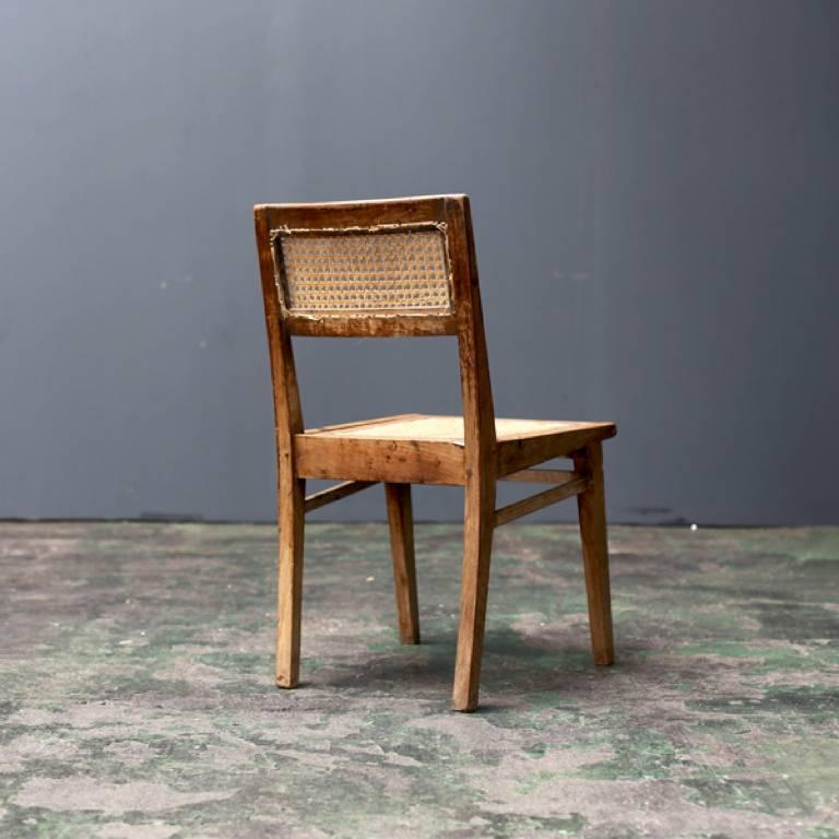 Mid-Century Modern Simple Chair by Pierre Jeanneret For Sale
