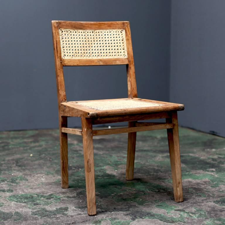 Woodwork Simple Chair by Pierre Jeanneret For Sale