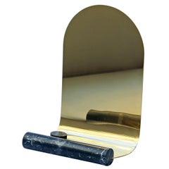 Narcisse Mirror Brass and Marquinia Marble