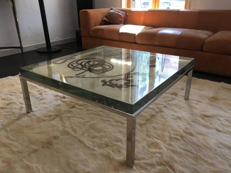 Rare resin coffee table by marie claude de fouqui res ref maison et jardin at 1stdibs - Maison jardin furniture nancy ...