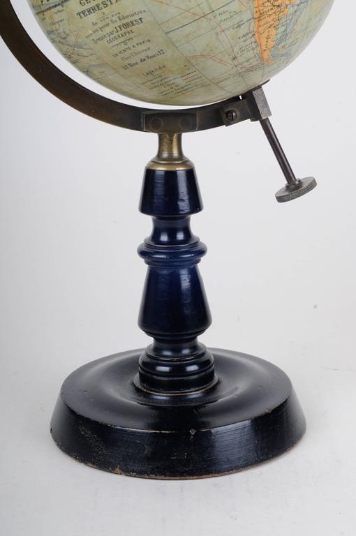 french art deco terrestre table globe j forest for sale. Black Bedroom Furniture Sets. Home Design Ideas