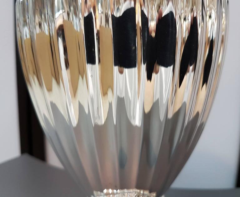 20th Century Empire Revival Italian Silver Vase For Sale 2