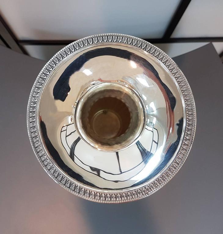 20th Century Empire Revival Italian Silver Vase For Sale 3