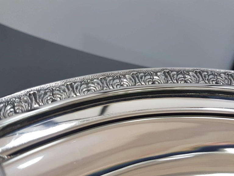 20th Century Italian Sterling Silver ceased Entree Dishe For Sale 2