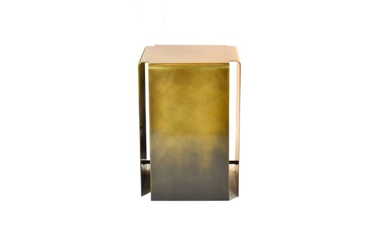 Modern Baltic Side Tables Made from Lightened or Darkened Bronze For Sale