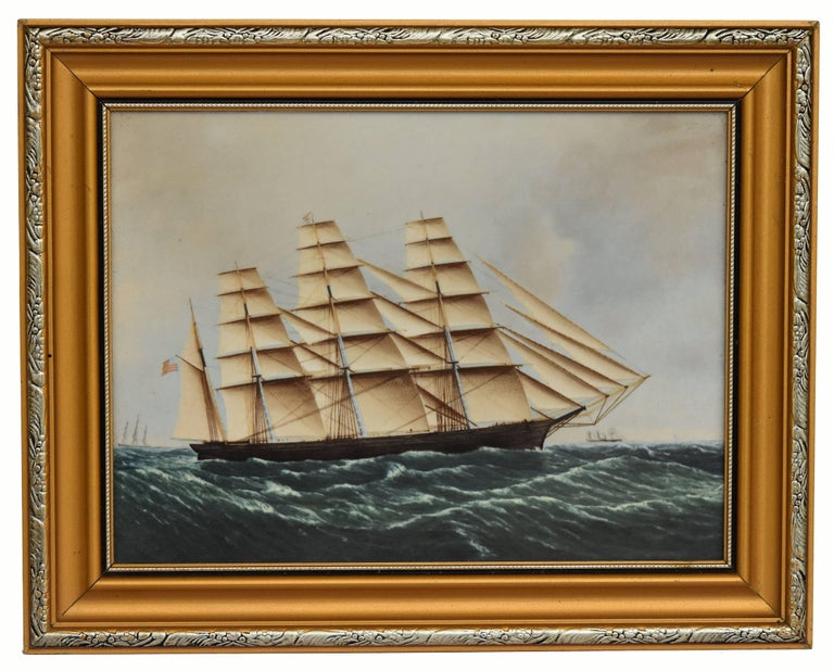 Great Britain (UK) Clipper Ships of America after Original Painting Nautical Sailing Framed Plaques For Sale