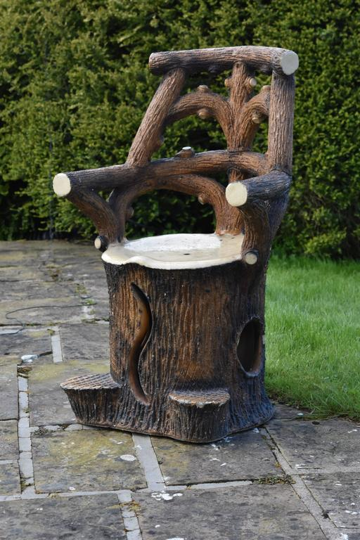 19th century garden seat adirondak tree branches trunk for Tree trunk garden bench