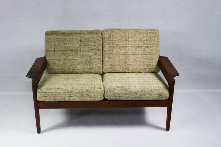 arne wahl iversen vintage danish teak sofa for komfort 1960s for sale at 1stdibs. Black Bedroom Furniture Sets. Home Design Ideas