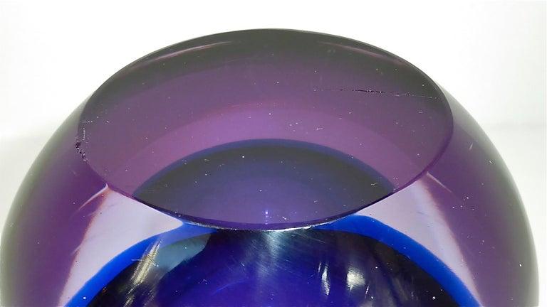 Flavio Poli Seguso Vase and Bowl Purple Pink Blue Murano Art Glass Italy, 1950s For Sale 1