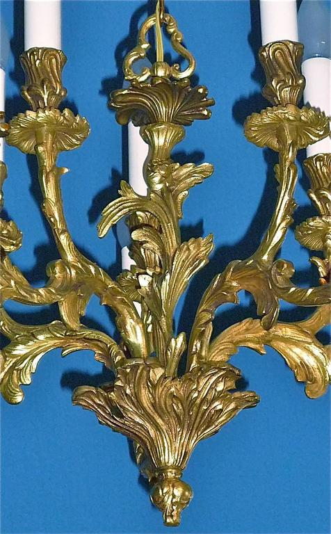 French maison bagu s style gilt bronze chandelier floral baroque rococo style for sale at 1stdibs - Maison style baroque ...
