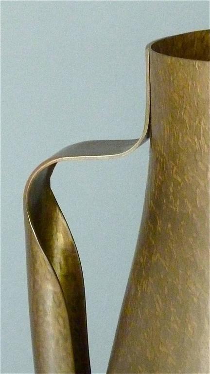 German Huge Modernist Bauhaus Pitcher and Bowl by Hayno Focken 1930 Burg Giebichenstein For Sale