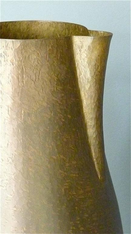 Hand-Crafted Huge Modernist Bauhaus Pitcher and Bowl by Hayno Focken 1930 Burg Giebichenstein For Sale