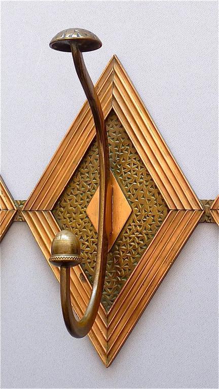 Französische Bronze Kupfer Garderobe im Jugendstil, Deco Arts & Crafts 1920 3