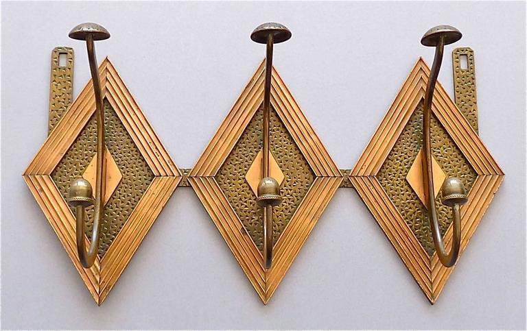 Französische Bronze Kupfer Garderobe im Jugendstil, Deco Arts & Crafts 1920 5