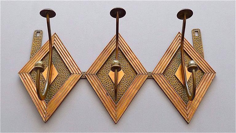 Französische Bronze Kupfer Garderobe im Jugendstil, Deco Arts & Crafts 1920 8