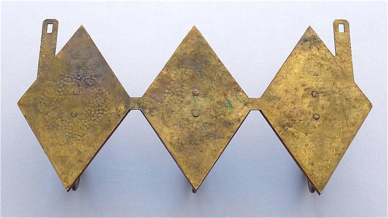 Französische Bronze Kupfer Garderobe im Jugendstil, Deco Arts & Crafts 1920 9