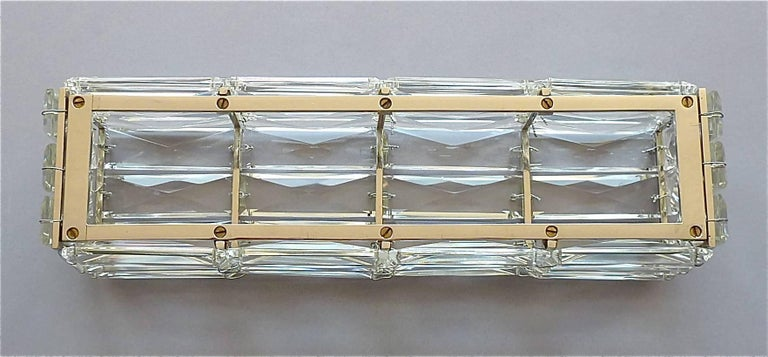 Portfolio Crystal Vanity Light Glass : Faceted Large Crystal Glass Wall Light or Vanity Sconce by Bakalowits 1950s For Sale at 1stdibs