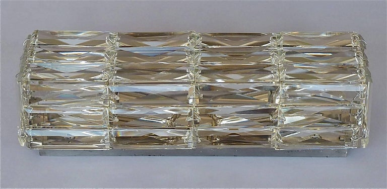 Faceted Glass Vanity Light