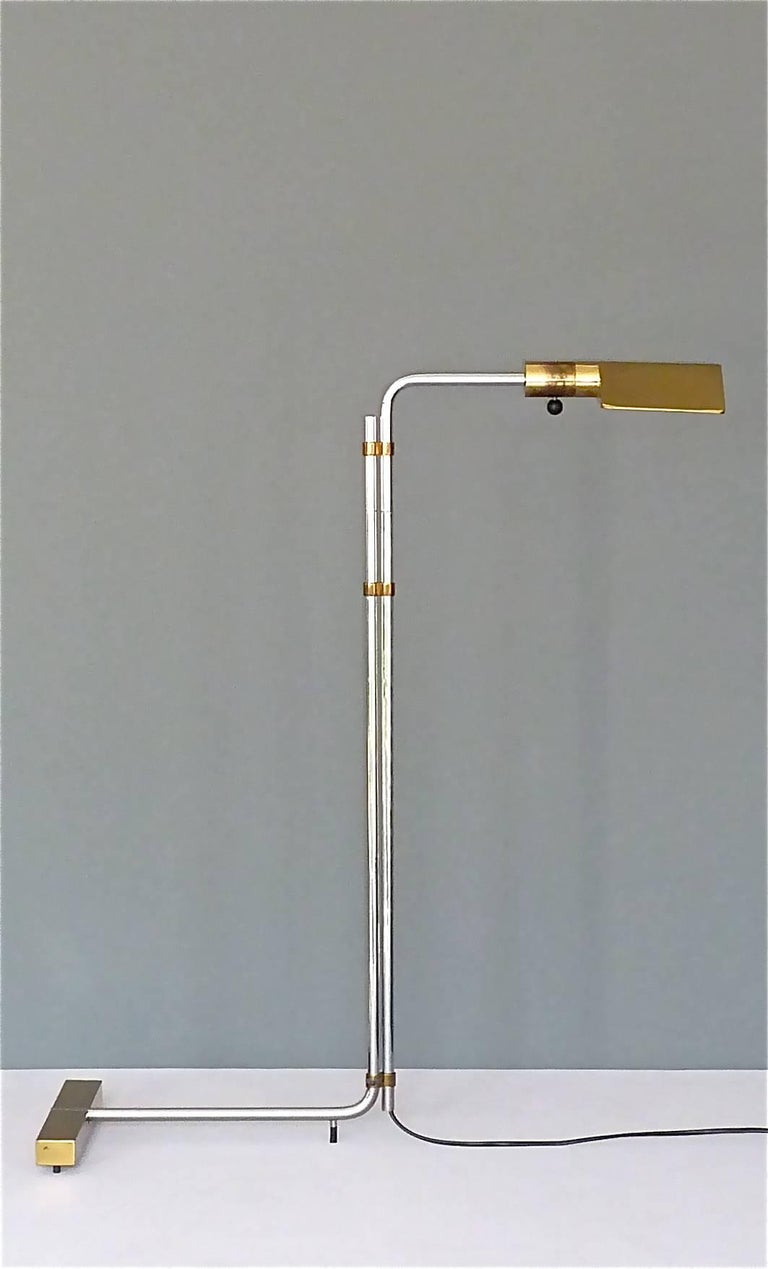 Brass Important 1966 Cedric Hartman Floor Lamp for Jack Lenor Larsen Serial No. 1 For Sale