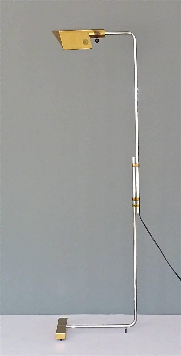 Important 1966 Cedric Hartman Floor Lamp for Jack Lenor Larsen Serial No. 1 For Sale 2