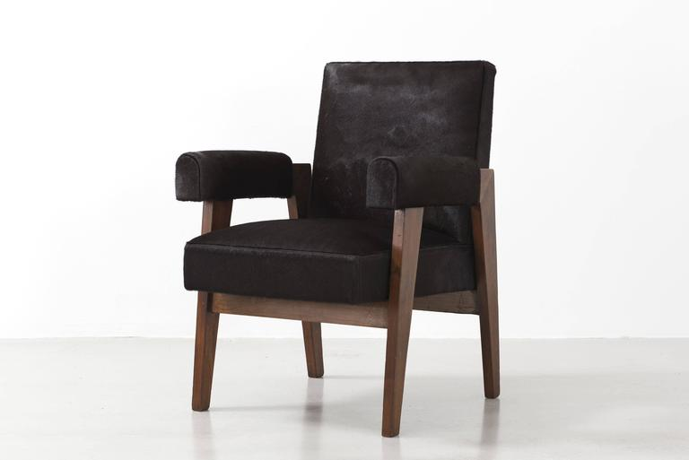 Pair or sold individually  These pieces come from the famous Chandigarh project in India, as when India gained independence in 1947, Nehru decided to commission a contemporary architect for the creation of the new capital of the Punjab region, which