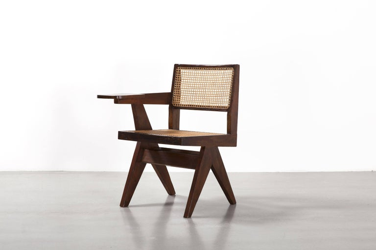 Mid-Century Modern Pierre Jeanneret, Writing Chair, circa 1960 For Sale