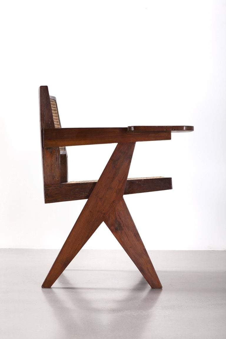 Indian Pierre Jeanneret, Writing Chair, circa 1960 For Sale