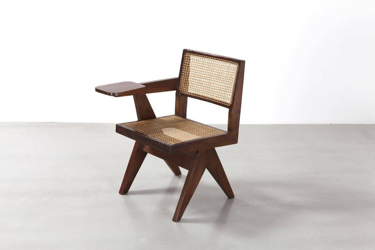 Pierre Jeanneret, Writing Chair, circa 1960 In Good Condition For Sale In Paris, FR
