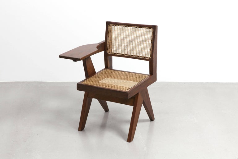 Mid-20th Century Pierre Jeanneret, Writing Chair, circa 1960 For Sale