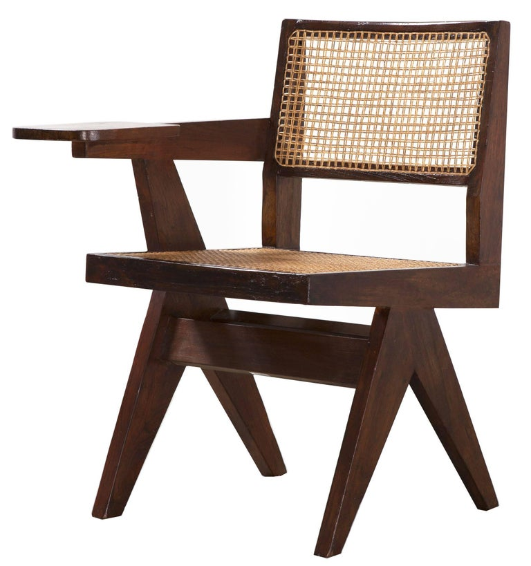 Pierre Jeanneret, Writing Chair, circa 1960 For Sale 1